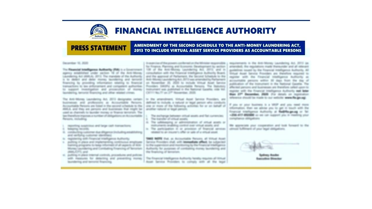 The Financial Intelligence Authority of Uganda Amends the AML Act to Regulate Virtual Asset Service Providers