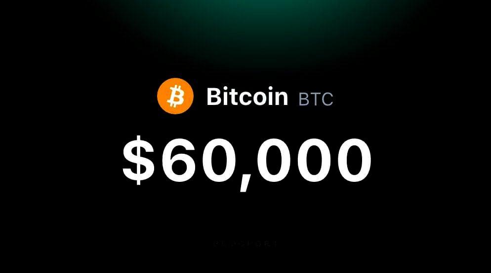 Bitcoin Crosses the $60, 000 Milestone